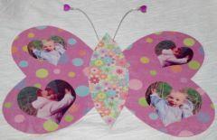 papillon porte-photo creation facile fête des meres avec enfant, avr. 2010