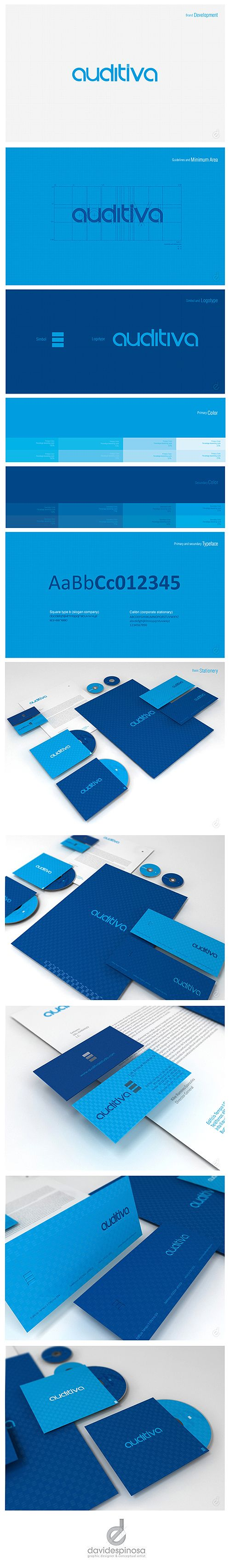 Brand Development AUDITIVA  by David Espinosa, via Behance