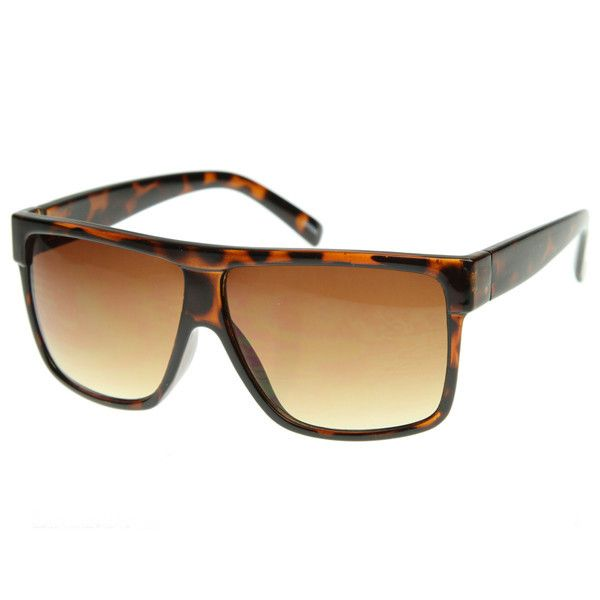 Retro Mens Super Flat Top Wayfarer Sunglasses 8493