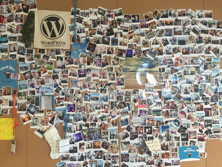 A pin board of worldwide woo team memories at Woo HQ in Cape Town!