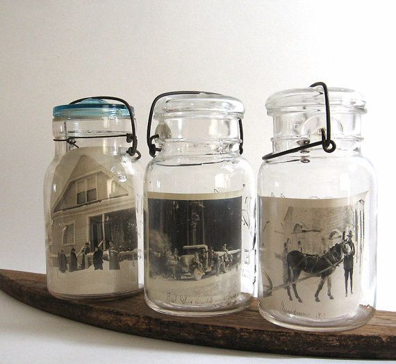 Ball Canning Jars Vintage Photo Display Glass by TheVintaquarian, $30.00