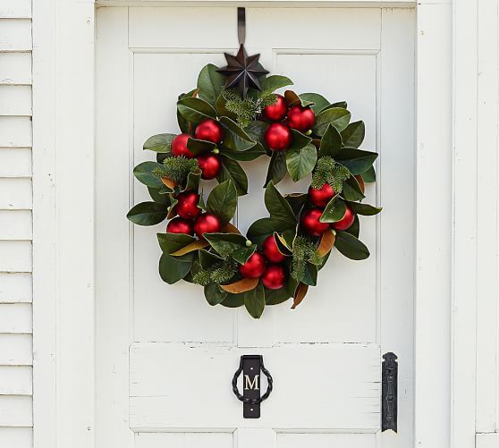 Outdoor Ornament Magnolia Wreath & Garland - Red | Pottery Barn
