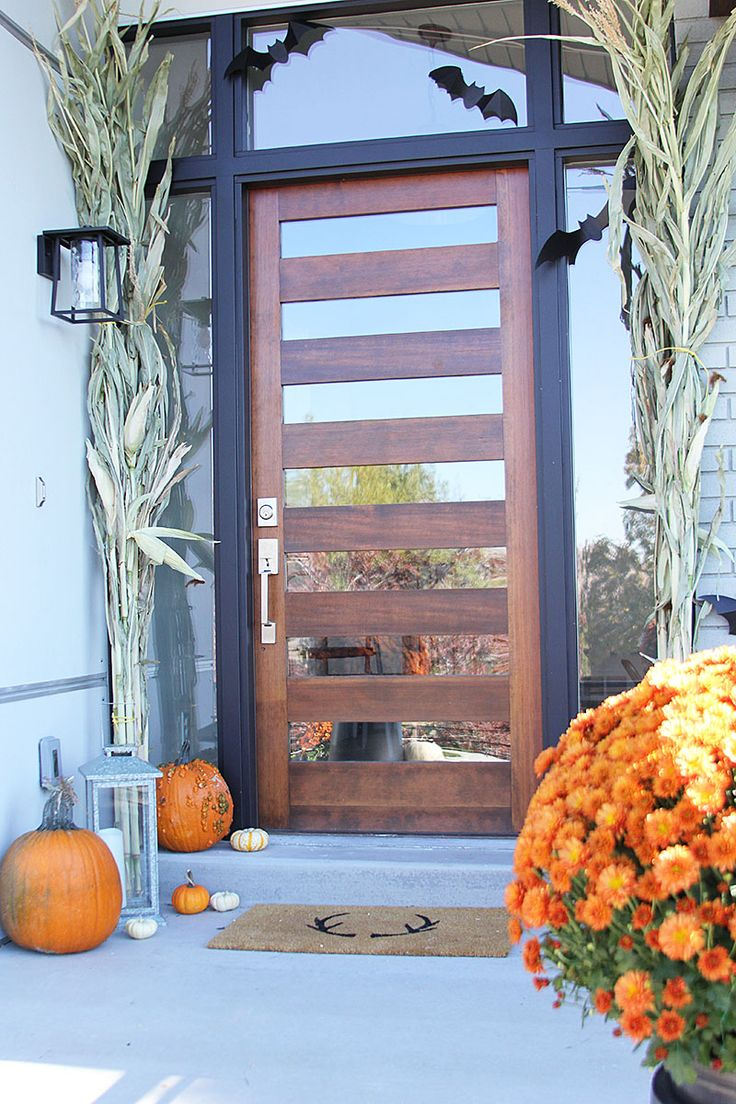 Modern glass front doors for homes - Blogger Stylin Home Tours Fall 2015 Withheart I Would Love To See Double Doors Wood Front Doorsmodern Front Doorglass Front