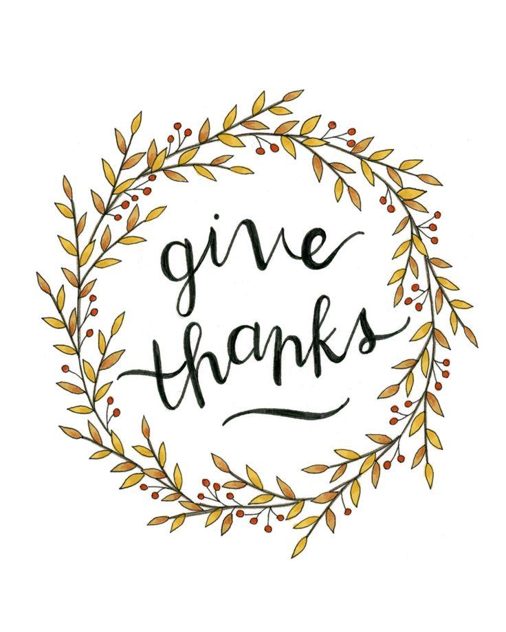 "8x10 ""Give Thanks"" print // Fall Print // Thanksgiving Print by blossomandink on Etsy https://www.etsy.com/listing/481018857/8x10-give-thanks-print-fall-print"