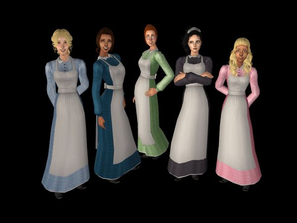 Sims 2 long dress until ankle