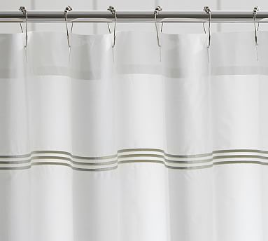 Our Crisp Shower Curtain, Trimmed With A Triple Row Of Satin Stitched  Embroidery, Is A Small Detail That Goes A Long Way In Creating A Stylish  Bath.