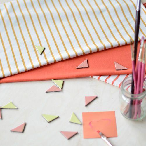 Stripe Jersey, Birch / Taffy | NOSH Fabric Summer 2016 Collection - Shop online at en.nosh.fi | Kesän 2016 malliston kankaat saatavilla nyt verkosta nosh.fi