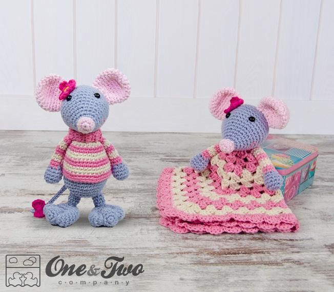 Looking for your next project? You're going to love Emily the Mouse Lovey & Amigurumi Set by designer oneandtwoco.