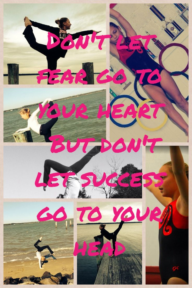 Don't let fear go to your heart, but don't let success go to your head