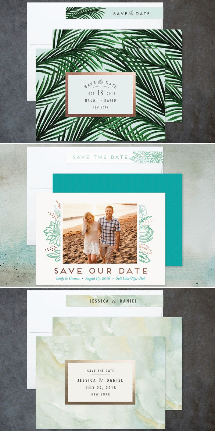 cruise wedding save the date announcement%0A Discover an unique foilpressed Save the Date card from Minted u    s community  of independent designers