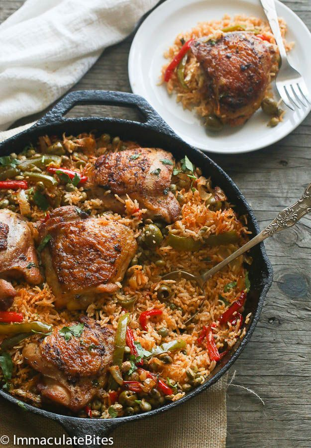 One Pot Puerto Rican Chicken and Rice from @africanbites
