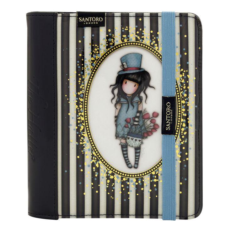 Gorjuss Classic Stripe Organiser Journal - The Hatter - Santoro London meerleuks