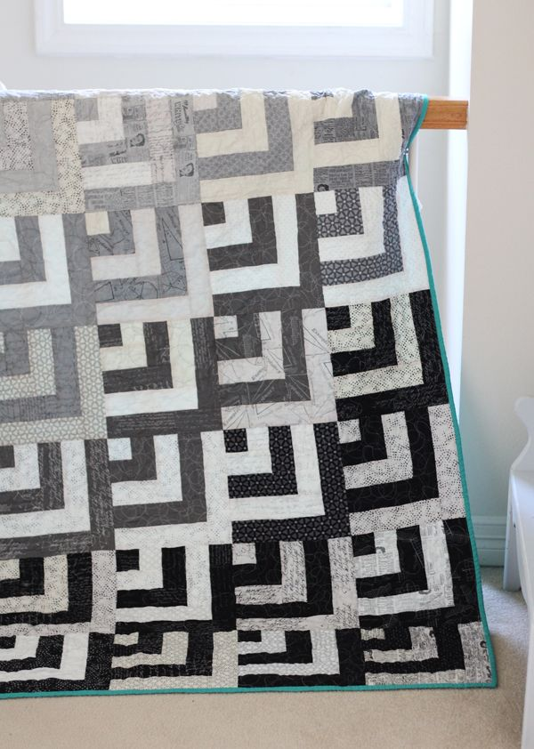 I've had more questions about this quilt than maybe any other since I posted the top over a year ago. I made this one with two jelly rolls I talk about here, and there is a tutorial for the blocks fou