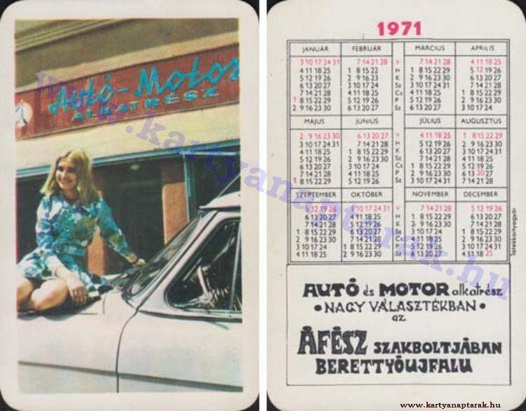 1971 - 1971_0563 - Régi magyar kártyanaptárak