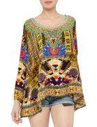 Camilla Sands Of Egypt Long Sleeve Blouse $293.00 #davidjones #fashion #style #shop #sale #camilla #kaftan #print #colour #designer