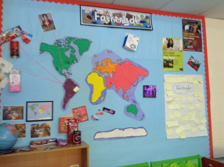 Fairtrade display map