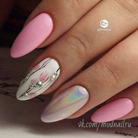 50 Sweet Pink Nail Design-Ideen für eine Maniküre, die genau was Sie brauchen …