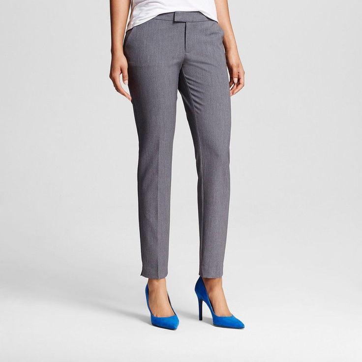 Women's Bi-Stretch Twill Skinny Classic Light Gray 10 Short - Merona