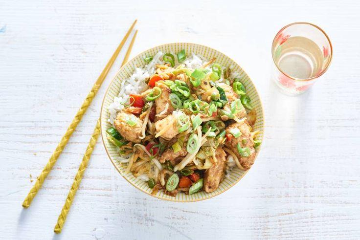 Kip, rijst en knapperige groenten: een Koreaans feest! - Recept - Allerhande