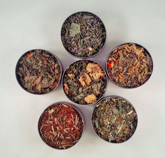 Herbal Delight  6 pack  dried herbs  herbal by HannaHerbalFarms