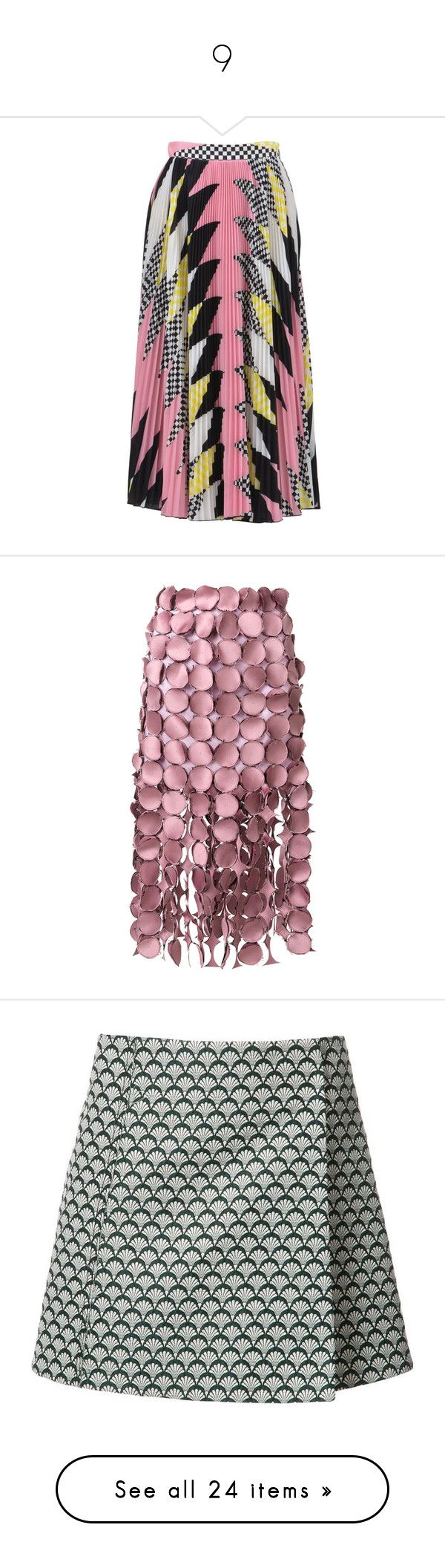 """""""9"""" by yee-yan ❤ liked on Polyvore featuring skirts, flared pleated skirt, msgm skirt, zipper skirt, pleated flare skirt, pleated mid length skirts, polka dot skirts, high waisted skirts, high-waist skirt and loewe"""