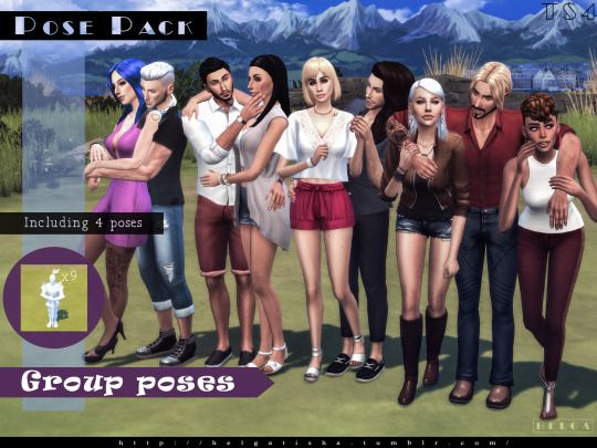 Sims 4 CC's - The Best: Group poses by helgatisha