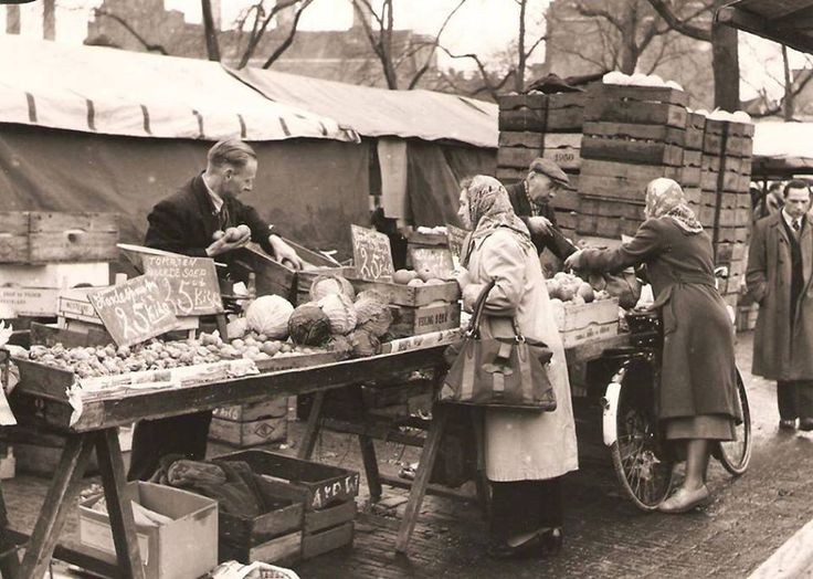 markt op de Maashaven