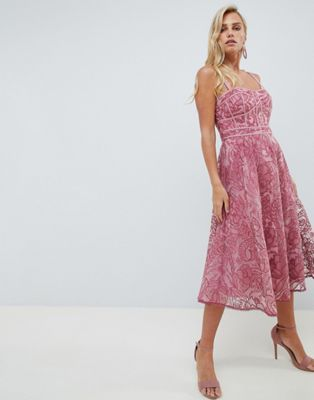 Forever New Lace Prom Dress in deep rose  a8d55891f