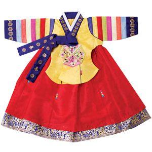 Hanbok for baby girl first birthday