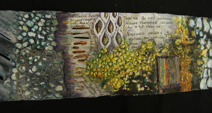 Jean Littlejohn zig zag sketchbook detail
