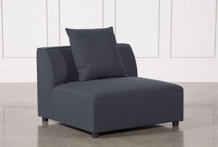 Clayton Dark Grey Armless Chair Living Spaces