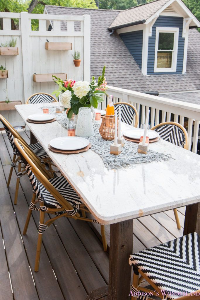 outdoor dining table decor outdoor