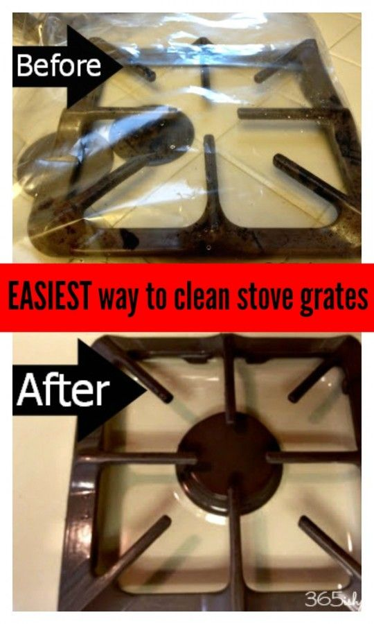 Hands down the EASIEST way to get those nasty stove grates clean!