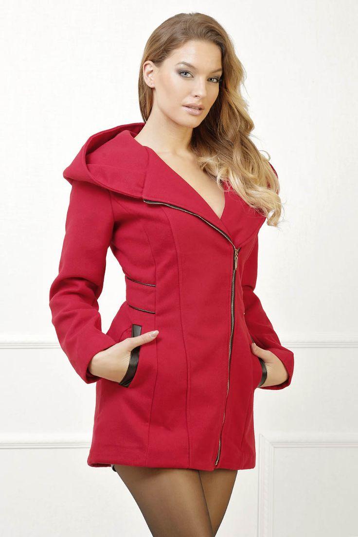 Manteau rouge pas cher et sexy