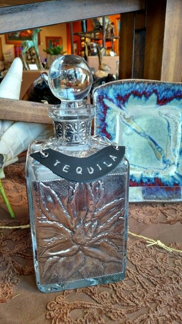 Tequila Decanter in Pewter Repujado