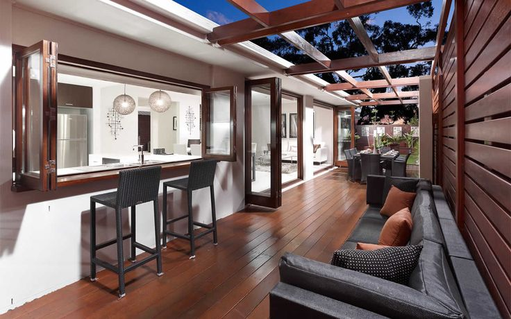 Indoor outdoor living spaces that's the life! Low maintenance