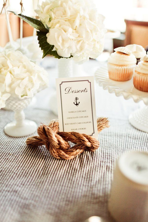 cute sea themed place cards or food labels nautical wedding