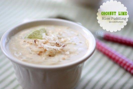 Coconut Lime Rice Pudding @createdbydiane.jpg