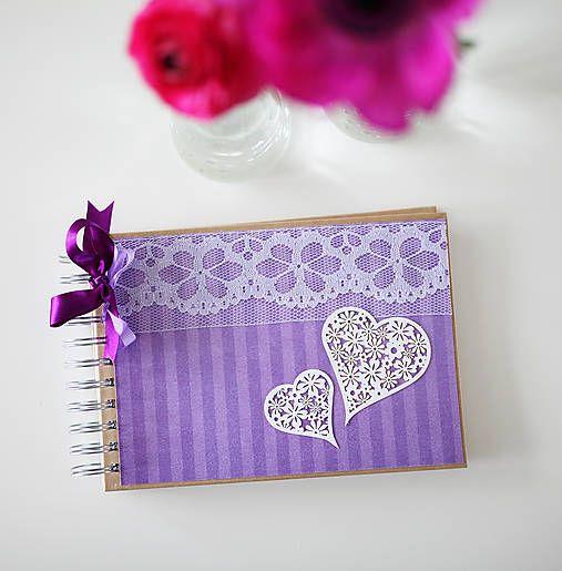 ArtStore / Svadobná kniha hostí - fialová