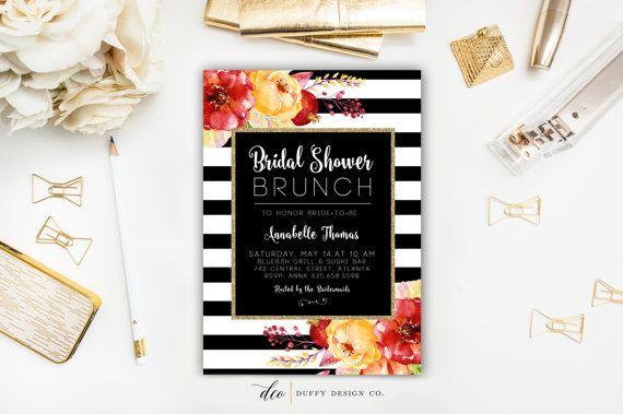 Bridal Shower Brunch Invitation Bridal Shower by DuffyDesignCo
