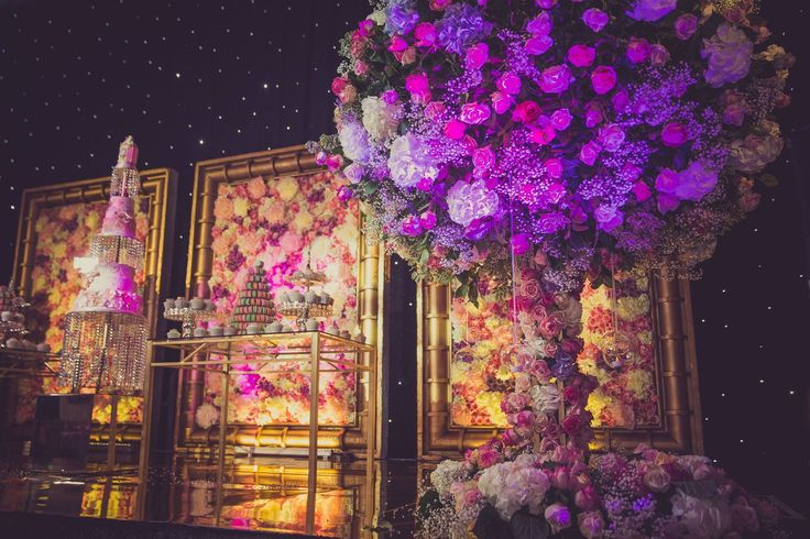Floral stage design we put together for boxer Amir Khan & Faryal Makhdoom daughter's birthday in Bolton.