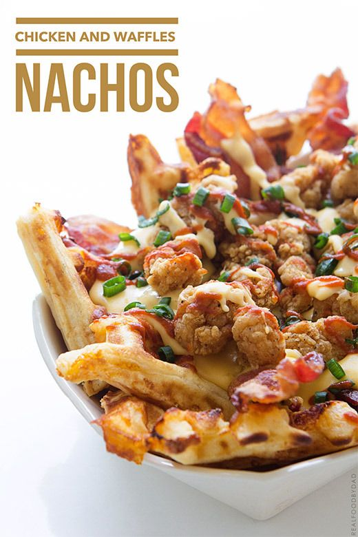 Chicken and Waffles Nachos   @FoodBlogs