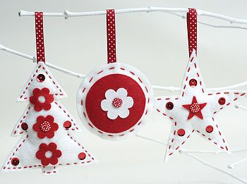 'Make & Sew' Xmas Felt Decorations Sewing Kit