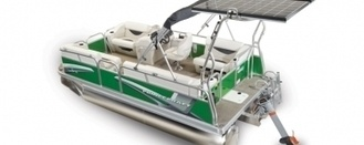 Princecraft Brio E 17 - New Electric Pontoon Boat .Check all the features of this boat at -    http://www.pontoonboatguide.com/compare-pontoons/princecraft/Brio-E-17/