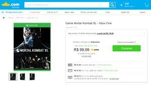 [Submarino] Game Mortal Kombat XL - Xbox One - de R$ 219,90 por R$ 87,99 (28% de desconto)