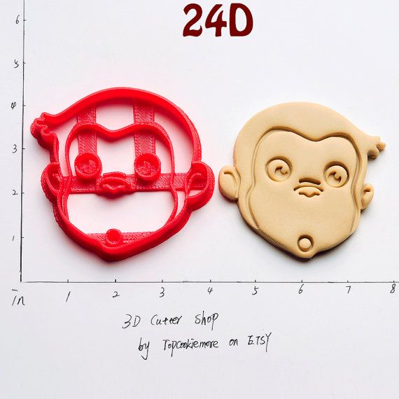 Curious George Cookie Cutter Curious George Party by TopCookieMore