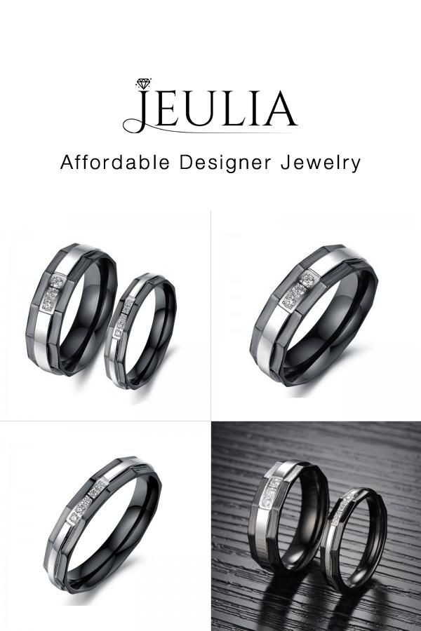 67c3494f70 Black Plating Titanium Steel Couple Rings | Couple Goal-Couple Rings | Rings,  Couple rings, Promise rings