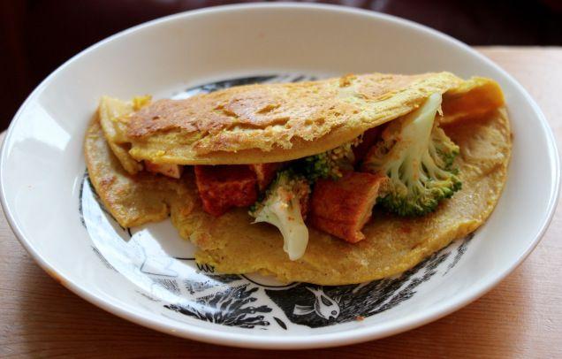 Besan (chickpea flour) pancakes! vegan + gf
