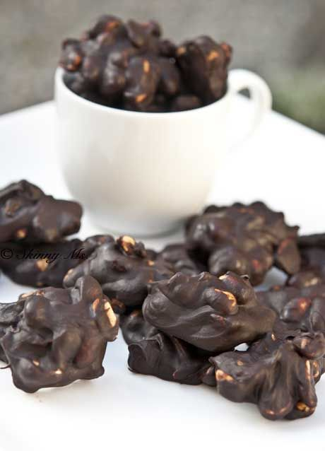 These Chocolate Turtles are an easy to make dessert. Healthier than any candy bar on the market. #chocolate #treat