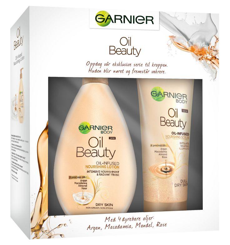 Garnier Oil scrub+ lotion sett J15
